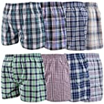6 Pack Mens Woven Check Print Poly Co...