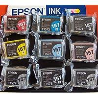 Epson 157 Serie Tintenpatronen für Stylus Photo R3000, Originalset, Bulk, keine Einzelhandelsverpackung