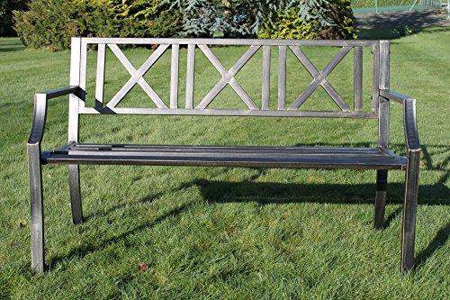 Panchine Da Giardino In Ghisa : Olive grove panchina da giardino in metallo con ghisa moderno