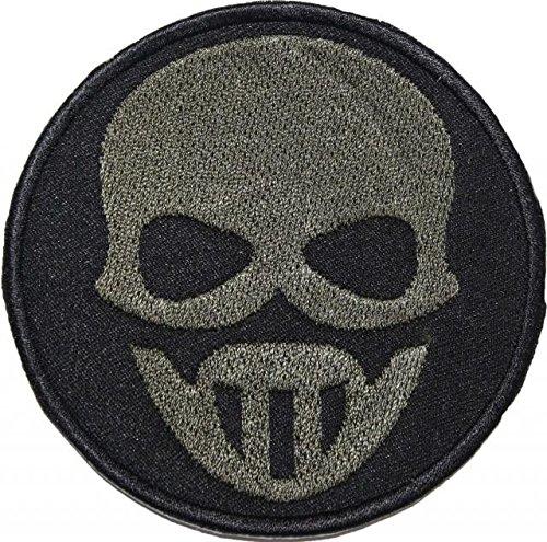TOM CLANCY 'S GHOST RECON grün Maske Badge bestickt Patch 8,9cm Aufnäher oder zum Aufbügeln (Maske Recon)