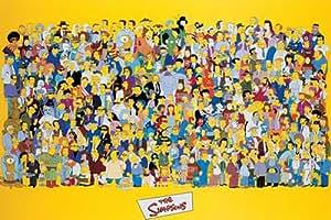 Empireposter - Simpsons, The - Full Cast - Größe (cm), ca. 91,5x61 - Poster