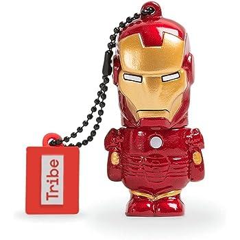 Tribe Disney Marvel Avengers Iron Man Chiavetta USB da 8 GB Pendrive Memoria USB Flash Drive 2.0 Memory Stick, Idee Regalo Originali, Figurine 3D, Archiviazione Dati USB Gadget in PVC con Portachiavi - Multicolore