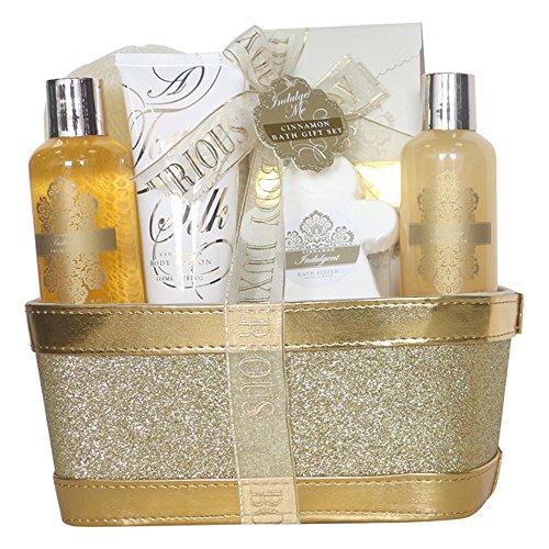Gloss - caja de baño, caja de regalo para mujeres - baño de la cesta de la lentejuela del oro me lo permiten