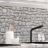 StickerProfis Küchenrückwand selbstklebend Pro STEINWAND Design 60 x 60cm DIY - Do It Yourself PVC Spritzschutz