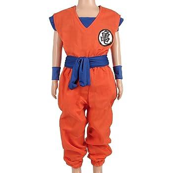 CoolChange Costume da Bambini di Son Goku per l'Allenamento dal Maestro Roshi, Taglia 110