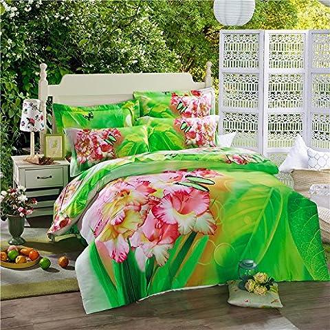 LLYY-Europa 2015 aire cuatro conjuntos de algodón de la versión estéreo de impresión verde fresco algodón ropa de cama venta , picture 1 , 180*200cm