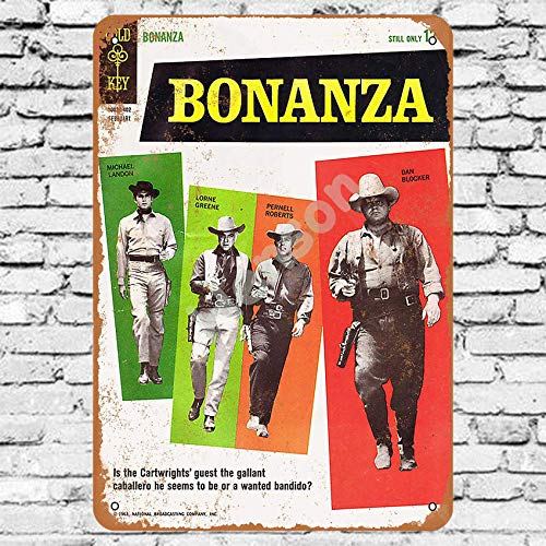 Henson 1964 Bonanza Comic Traditional Vintage Tin Sign Logo 12 * 8 Advertising Eye-Catching Wall Decoration