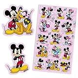 Haza MICKEY MOUSE-Sticker-Bogen mit 15 Aufklebern von Micky, Minnie und Pluto, Disney