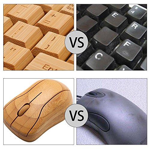 kabellose Bambus Tastatur und Maus - 4