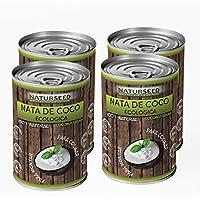 Naturseed - Nata de coco ecológica ORIGINAL 4x 400ml para cocinar, sin lactosa, sin aditivos, ni conservantes,.