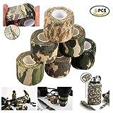 Dproptel Outdoor Camouflage Klebebandselbstklebende Tarnung Band Camouflage-Bänder im Freien Kamera Schützen für Jäger, Angler, Fotografen5cm*4.5m 6 Stücken