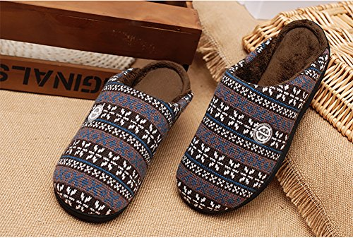 Happy Lily Unisex Antiscivolo Slippers Slip On Sandali Memory Foam a maglia pantofole in pile scarpe Vintage Boho Art F ¨ ¹ r adulti – Perfect regalo di Natale Marrone