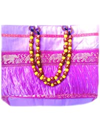 Swanky Collections Silk Fabric Handbags For Women | Silk Sling Bags/Jhola Bags For Women Stylish Trendy On Low... - B07CNYW1SJ