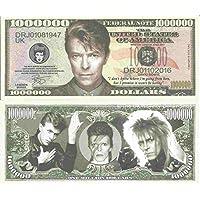 Novelty Dollar David Bowie Robert Jones Commemorative Million Dollar Bills x 2 English Singer