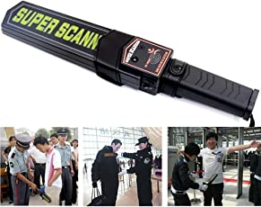 Light-Weight Hand Held Metal Detectors Portable Security Scanner Wand with Adjustable Sensitivity Two Alarm Type Beep Or Vibration