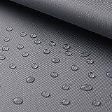 www.aktivstoffe.de Breaker abwaschbar - Canvas Stoff mit Beschichtung - abwaschbar, wasserdicht - Oxford Polyester (per 0,5m, Hellgrau)