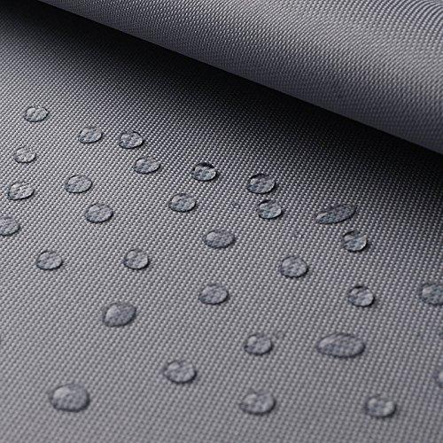 www.aktivstoffe.de Breaker abwaschbar - Canvas Stoff mit Beschichtung - abwaschbar, wasserdicht - Oxford Polyester (per Meter, Hellgrau)