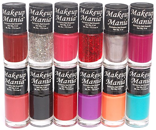 Makeup Mania Nail Polish Set of 12 Pcs (Multicolor Set # 5)