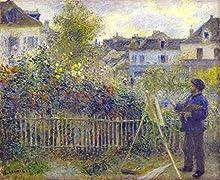 El Museo de salida - Claude Monet pintura en su jardín en Argenteuil, 1883 - A3 Poster