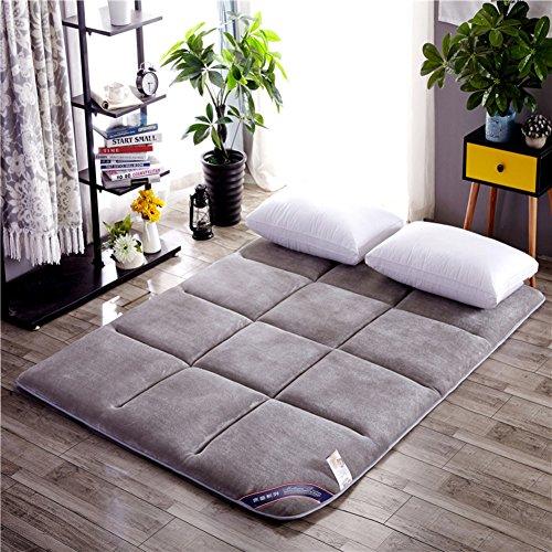 GX&XD Flanell Tatami tatamimatte,Faltende matratze Boden Liege Abdeckung Stock-matratze Tatami-matten Zusammenklappbar Weich Matratze-M 120x200cm(47x79inch) (Futon-matratze-abdeckung)