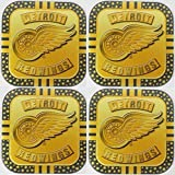 4 Detroit Red Wings NHL Licensed Gold Me...