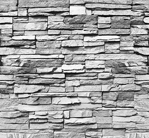 papier peint pierre brique 3d 274 5 x 254 cm mur noir blanc cama eu photo mural tableaux muraux. Black Bedroom Furniture Sets. Home Design Ideas
