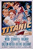 ODSAN Titanic, Clifton Webb, Barbara Stanwyck, Robert Wagner, Audrey Dalton, 1953 - Premium-Filmplakat Reprint 28x42 Inch Ungerahmt