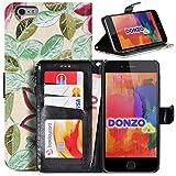 DONZO Wallet Flowers Custodia per Apple iPhone 6 Plus 6S Plus verde