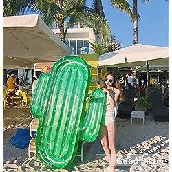 Gigante Hinchable Cactus, Inflatable Flotadores Colchón de Playa de Pool Vacaciones Verano Piscina al Aire Libre Juguete para Niños y Adultos