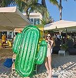 Lady of Luck Gigante Hinchable Cactus, Inflatable Flotadores Colchón de Playa de Pool Vacaciones Verano Piscina al Aire Libre Juguete para Niños y Adultos