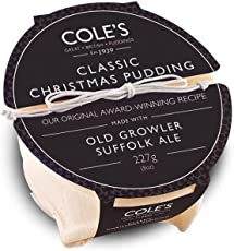 Cole's Classic Christmas Pudding in a Traditional Cotton Bag 227g