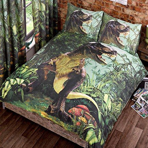 T Rex Doble Funda de edredón de Cama de edredón y 2P/Casos Dinosaurios Ropa de Cama Dino jurásico