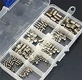 Malayas®200 Stück Gewindestifte Innensechkant Schrauben Set Madenschrauben Sortiment aus Edelstahl M3 M4 M5 M6 M8 Gewinde Schrauben Kit