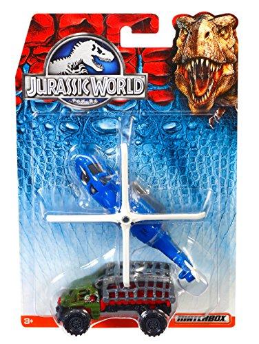 mattel-matchbox-dfw16-set-di-macchinina-ed-elicottero-jurassic-world-colori-assortiti
