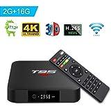 T95 S1 TV Box Androide 7.1 Amlogic S905W Quad-core 2GB RAM 16GB ROM Con Telecomando H.265 WiFi 4K HDMI Media Player