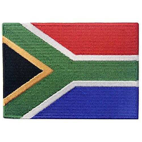 EmbTao Südafrika Flagge Afrikanischer Staatsangehöriger Flicken Bestickter Aufnäher Zum Aufbügeln/Annähen (Flagge Afrikanische)