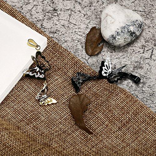 AnazoZ Mode Bijoux Pendentif en acier inoxydable Forme de Papillon Pendentif Collier pour adulte Choisissez Couleur doré