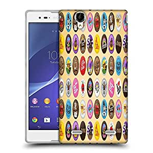 Snoogg Funny Buttons Digital Art Designer Protective Phone Back Case Cover For Sony Xperia T2 Ultra