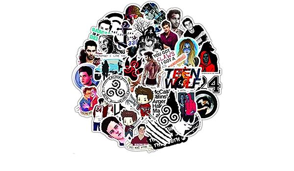Show televisivo Teen Wolf Doodle Sticker Auto Moto Viaggio Bagagli Telefono Chitarra Laptop Fai da te Joke Decal Sticker Child Sticker 50 pezzi