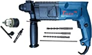KHADIJA Tiger 20 mm Rotary Hammer Drill Machine with 3 Bits (6,8 and 10mm) and Carrying Box (Colour May Vary)