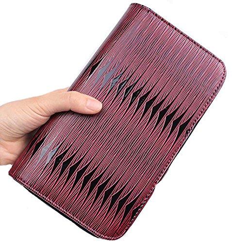 Haar-Scheren-Beutel-Haar-haltbare Feder-Muster-Beutel-Haar-Stylist-Handbeutel, Rot (Feder-haar-scheren)