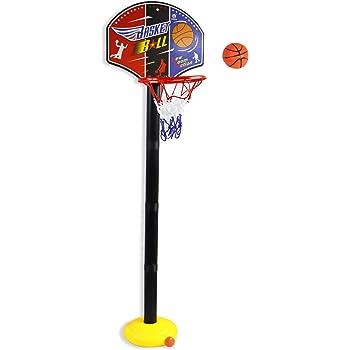 7f39164187b6 Vetrineinrete® Canestro Basket per Bambini con Pallina e gonfiatore  Supporto piantana Regolabile in Altezza da 54 a 115 cm e tabellone Base  zavorrabile ...