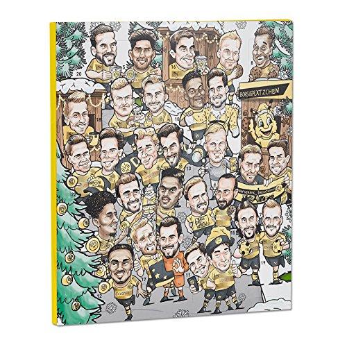 Borussia Dortmund Comic Adventskalender 2017, 25 Schokotäfelchen, Autogramme one size