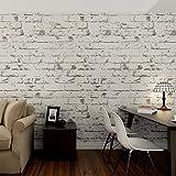 HANMERO murales pared papel pintado imitación ladrillo piedras no tejido papel de pared...