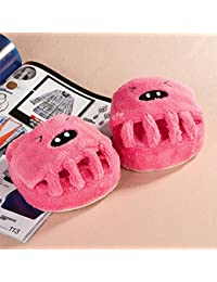 JIA HONG Creativo Del Arco Del Deslizador Five Fingers Foot Slippers Half Foot Zapatillas Del Hogar Belleza Foot Foot,Pink