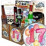 Geschenk zum 17. | Männer Geschenkbox | Geschenke 17 Jahrestag | mit Held der Arbeit Flaschenöffner, Kondome, Bier und mehr