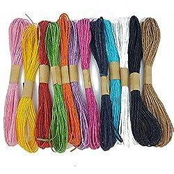 12x 10m rollo de papel Rafia Cable Craft Twine Cuerda String Craft DIY de recortes por accesorios ático ®