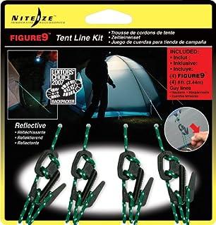Nite Ize Figure 9 Zelt-Set 4 Reflektierenden Seilen und 4 aus Kunststoff - Estaca para Tiendas de campaña, Color Negro (B001R1CQQW) | Amazon Products