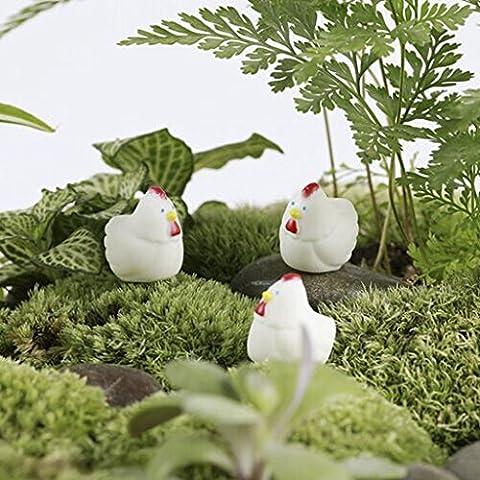 Gazechimp Lot 10pcs Figurines Figure Poule Jouet Enfant Art Ornement Maison de Poupée Miniature
