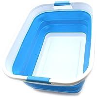 Sammart Panier à linge pliable en plastique – Boîte de rangement pliable et rétractable – Cuve de nettoyage portable…